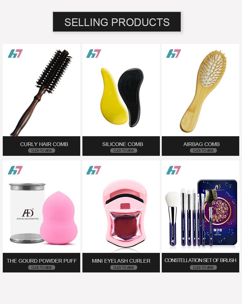 Free Sample Wholesale Two Colors Big Plastic Hair Comb