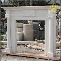 Europe Style White Marble Fireplace Surround Chimney piece mantelpiece mantel