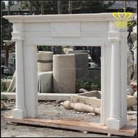 Europe Style White Marble Fireplace Surround Chimney piece mantelpiece mantel
