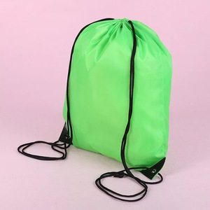 Custom Promotion waterproof reusable 210D polyester back pack drawstring