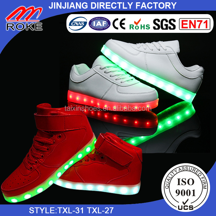 Original LED shoes manufactory Best Quality In JINJIANG city specail for USA Europe maket and size from baby to men