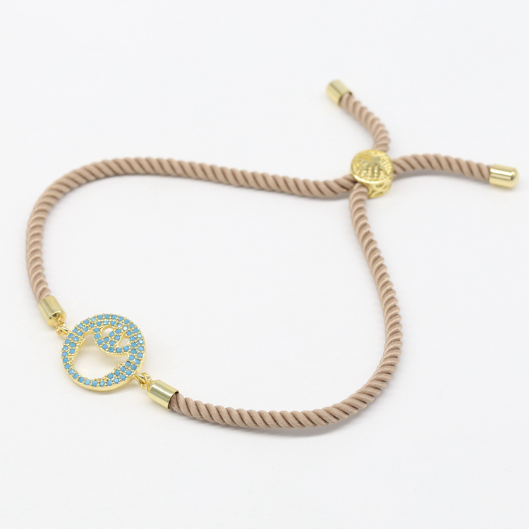 Hot Fashion Handmade Adjustable Bracelet Rope Bracelet With Turquoise