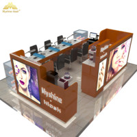 Latest modern style Mall beauty nail bar kiosk design with manicure table