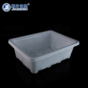 Customized plastic blister packing separated grow seedlings tray with lid