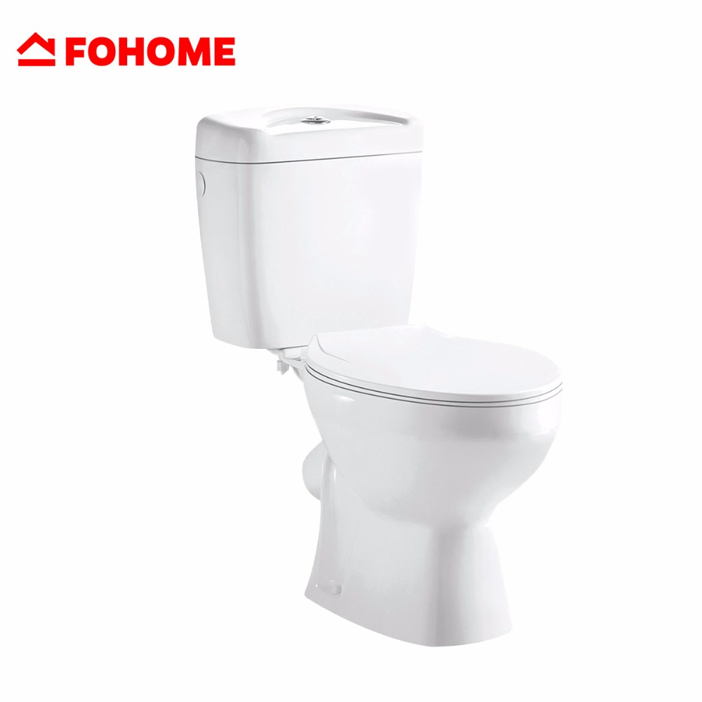 China nice design excellent quality save water gravity flushing two piece toilet