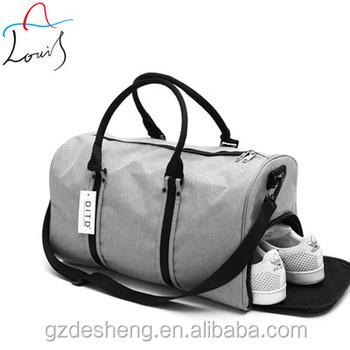 Mens Travel Tote Bag Waterproof Sports Duffel Women Gym Bag Shoe