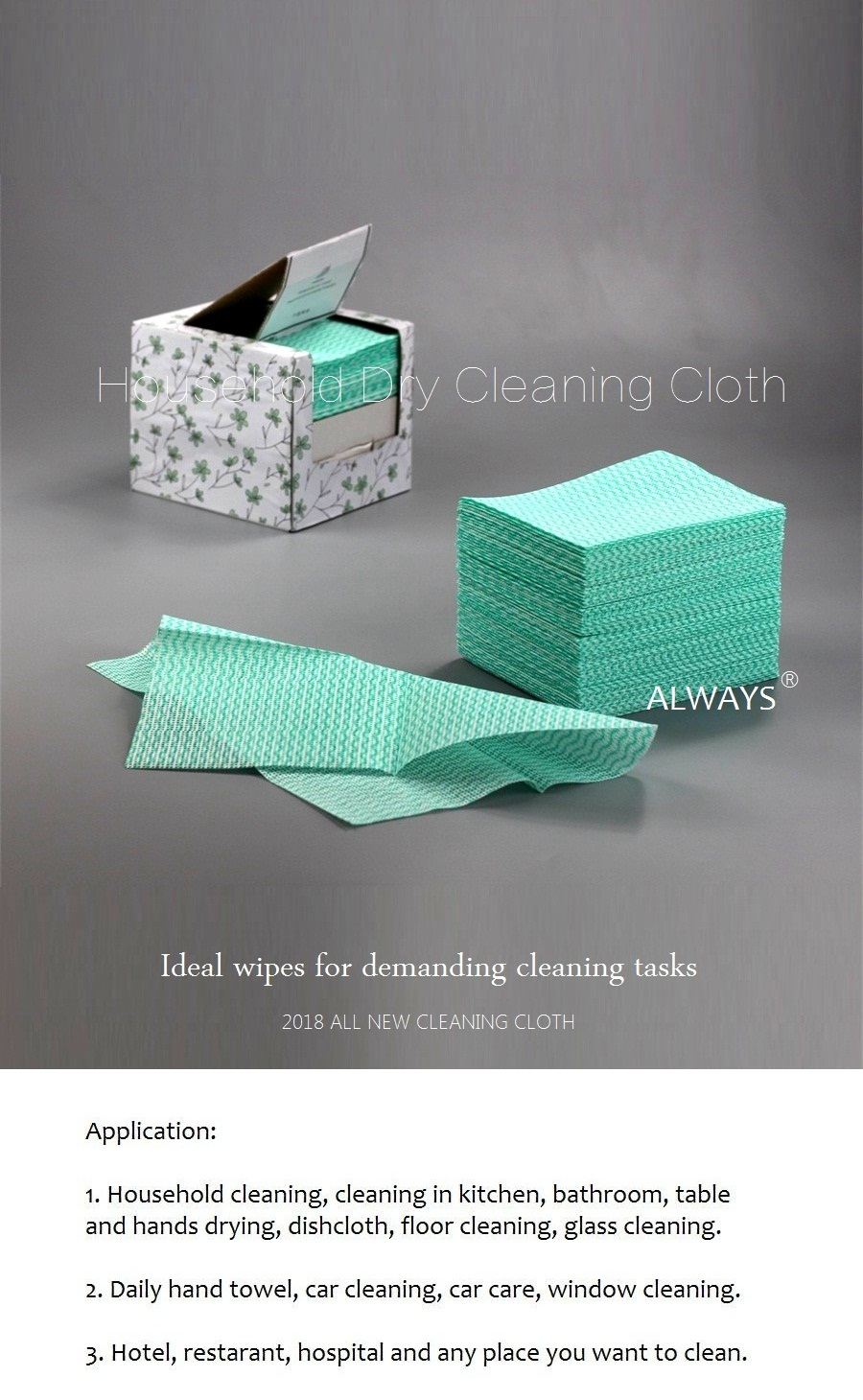 2018 daily maintenance Cleaning Cloth for Family Use