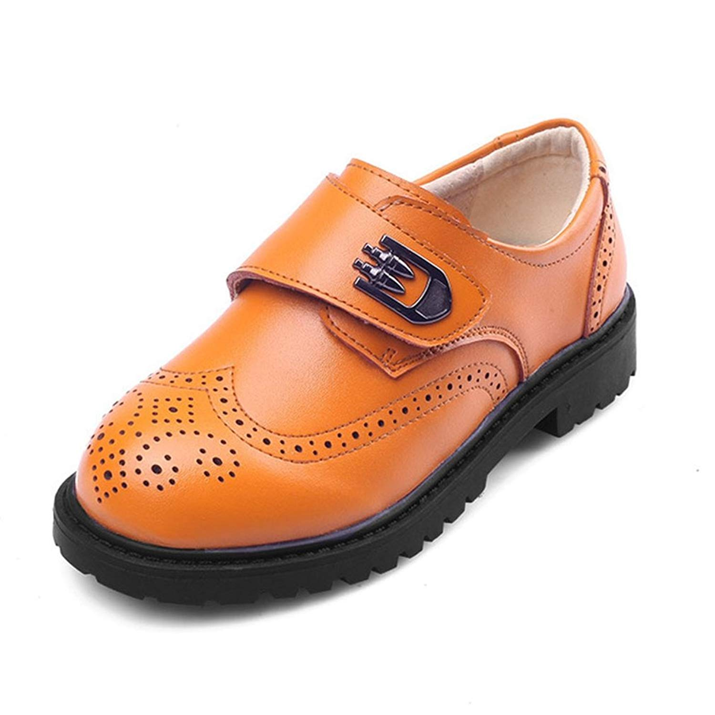 ec66f987c5e Get Quotations · Hoxekle Boys British Buckle Oxford Shoes Kids Toddler School  Uniform Slip On Wingtip Carved Bullock Shoe