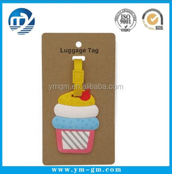 Ice Cream Luggage Tag Summer Cake Cute PVC Travel Tags for Colorful Suitcase Tag