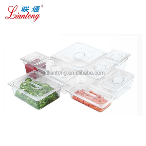 Full size polycarbonate plastic food container pc gastronorm pan
