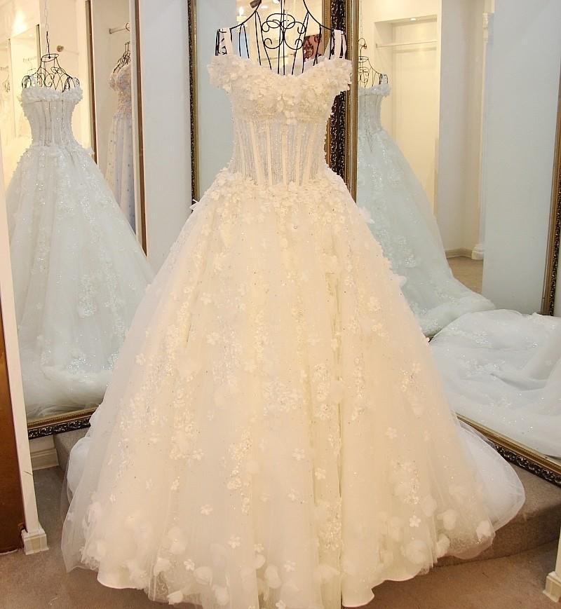 Ls16026 Whole Handmade Wedding Dress Designers Flowers Corset Top ...