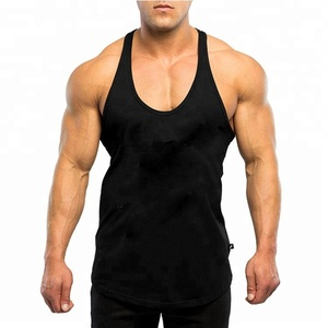 Wholesale plain custom gym stringer vest for men
