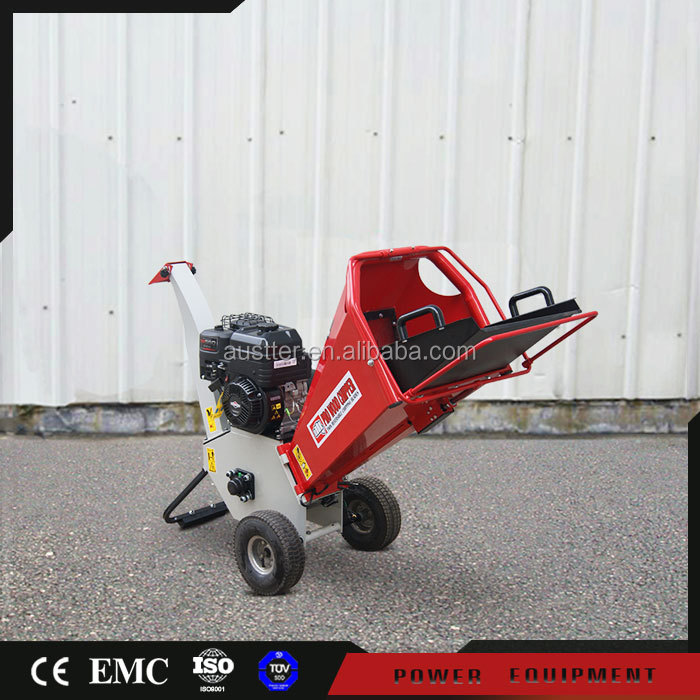 Tree care 6.5 hp gas motor power gardern use small branch wood chipper shredder