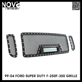 99-04 Super Duty F-250f-350 Stainless Steel Wire Mesh Cutout Black ...