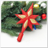 9.5CM Christmas Tree Topstar Golden Christmas Star Tree Topper For Table Christmas Ornament New Lovely Shiny Xmas Decor SSD164