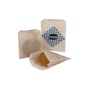 Eco Friendly Bakery Baking Snack Food Custom New Coming Color Kraft Paper Sandwich Bags With Print