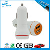 5V 2A Portable Dual Car Charger USB Cream Charger adapter for Cell Phone
