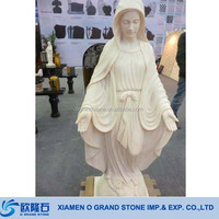 White Marble Garden Stone Virgin Mary Statues