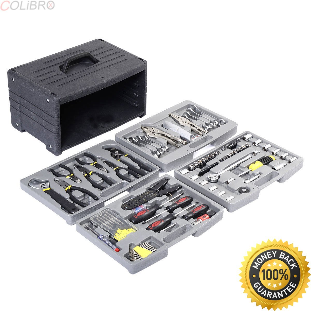 COLIBROX--New 99 PCS Garage Tool Mechanic's Tool Kit Set Shop Vehicle Repair four floors. master mechanic tool sets. craftsman master mechanic tool set. master mechanic socket set.