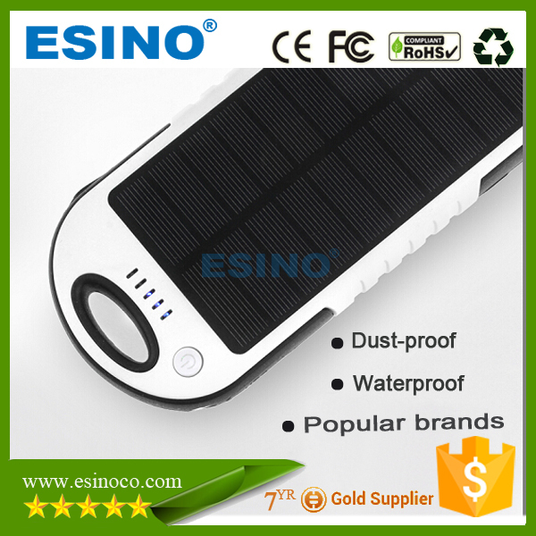 Waterproof case solar power bank universal power bank for mobile phone/pad/psp