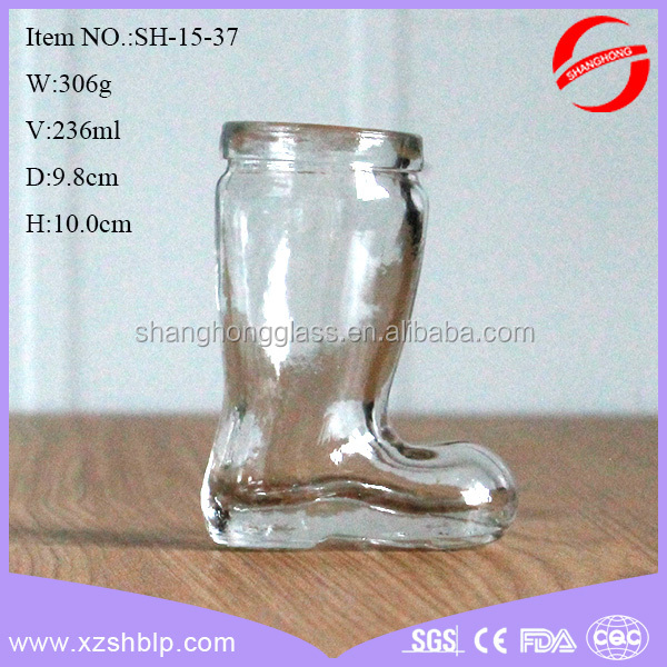 shoe shape glass perfume bottle with best selling perfume bottle design