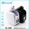 2.1A Dual USB Port Car Charger Portable Travel Charger Rapid wall Charger for iPhone Samsung LG HTC Nexus