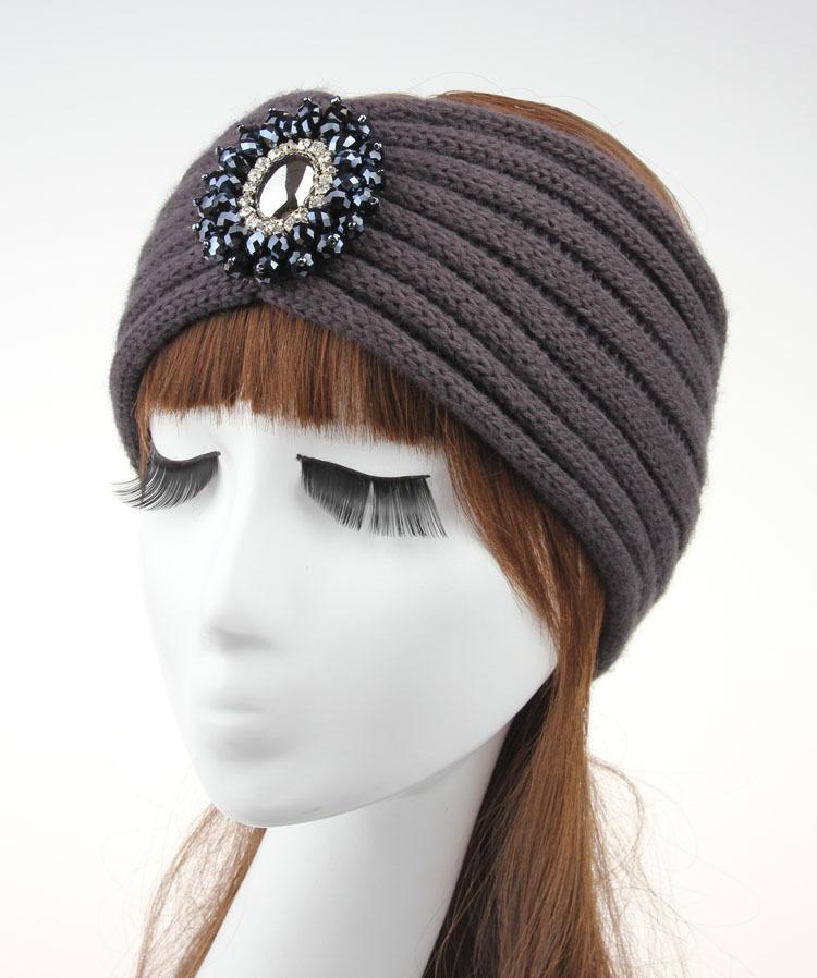 Moda Mujer Crochet Algodón Joyas Lana Estiramiento Elástico Head ...