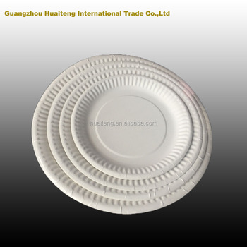 Wholesale all sizes(6/7/8/9 inch ) white disposable paper & Wholesale All Sizes(6/7/8/9 Inch ) White Disposable Paper Plate ...