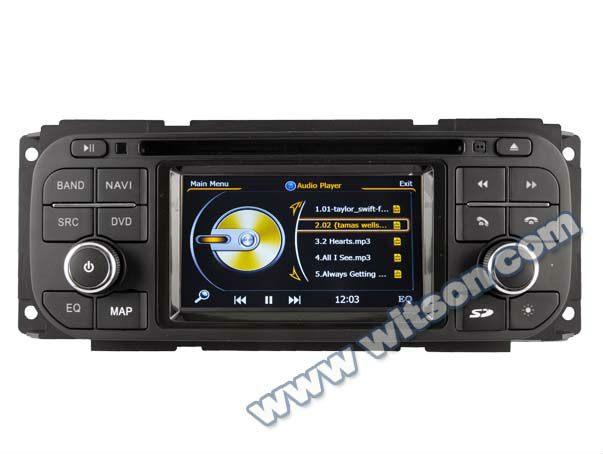WITSON car dvd player with gps for CHRYSLER Jeep Liberty with Built-in TV tuner