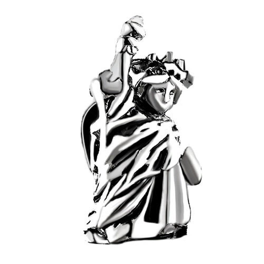 Pugster Silver Plated Statue Liberty Bead Fits Pandora Charm Bracelet