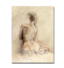Nude Sexy Girl Abstract Canvas Oil Painting Art for Wall Decor