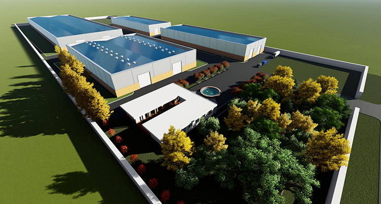 En kaliteli modern fabrika binası tasarımı