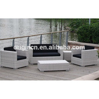 Cheap wholesale patio garden furniture sets chair lounge white outdoor wicker sofa couch
