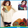 2015 new fashion colorful infinity scarf knitting pattern