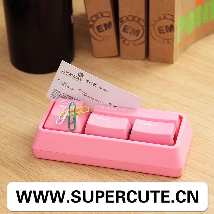 Mini high quality ABS Pink color keyboard shape stationery items for <strong>schools</strong>