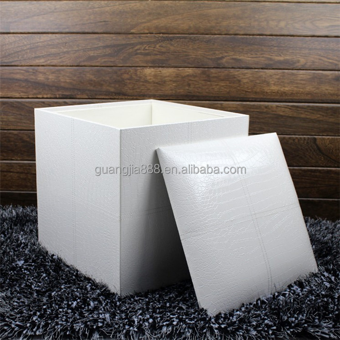 Fancy white leather stoolsquare wooden storage stool & Fancy White Leather StoolSquare Wooden Storage Stool - Buy ... islam-shia.org