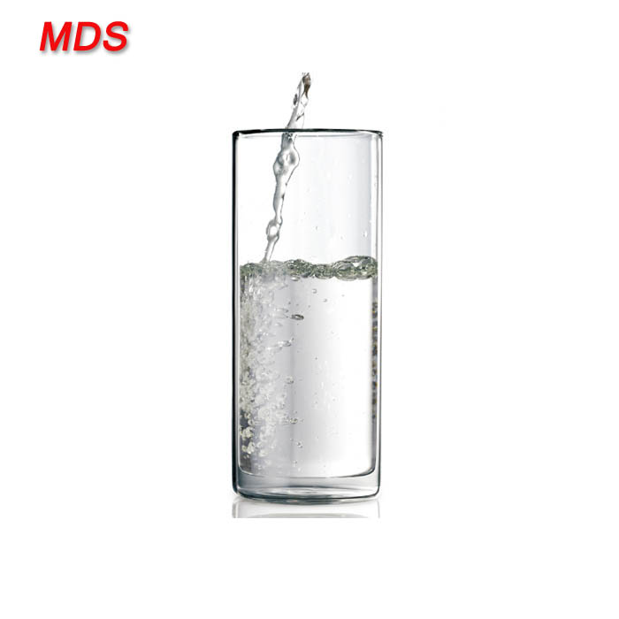 New style borosilicate straight double wall water drinking glasses