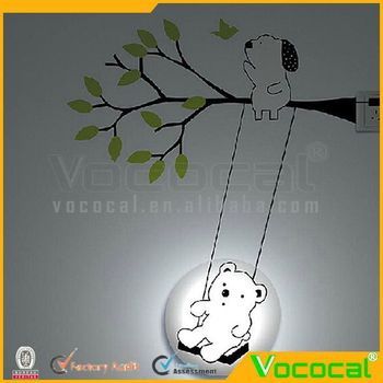 Home Wall Decoration Diy Kid Bedroom 3d Led Wall Lamp Sticker ...
