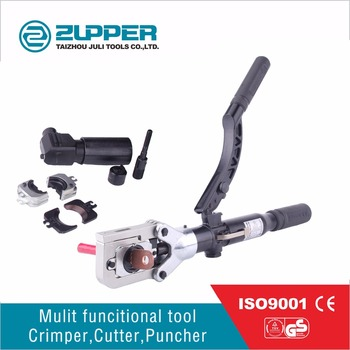 Zupper HZ-60UNV Multi-functional hydraulic terminal hand metal punch wire cutters crimping tool