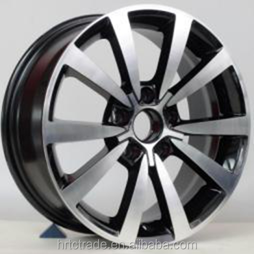 Hot-sell 16 inch black machine face alloy rims for VW
