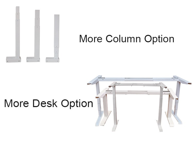 Electric Height Adjustable Sit Stand 4 Leg Desk Executive Luxury