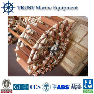Ship Embarkation Climbing Rope Ladder/Marine Embarkation Rope Ladder/wooden rope ladder