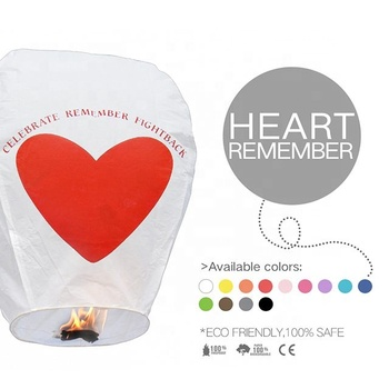 Boomwow Best Seller Cheap Chinese Wholesale Colors Flying Paper Wishing Sky Lantern