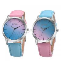 38 x 8 mm gradient color dial waterproof watch with Chinese movement wrist watch women relojes de mujer