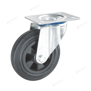 Low price swivel anti static plate industrial rubber retractable esd caster