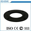 Black hdpe water pipe fittings size 75mm hdpe flange adaptor