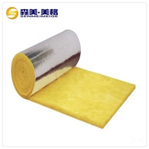 China supplier Heat absorbing building materials glass wool colored aluminum foil rolls 25mm thickness