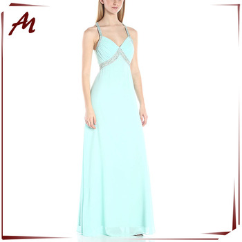 New Arrival Korean Prom Dresses Girls Party Beaded Chiffon Maxi ...