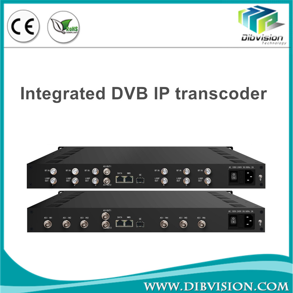 8 in 1 dvbs2 used iptv transcoder digital tv broadcasting equipment