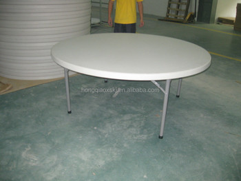Attractive 6u0027 Plastic Round Folding Tables Wohlesale/used Round Banquet Table For  Sale/cheap